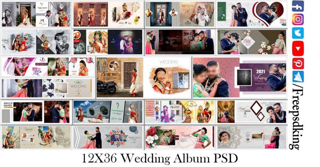 12X36 Wedding Album PSD