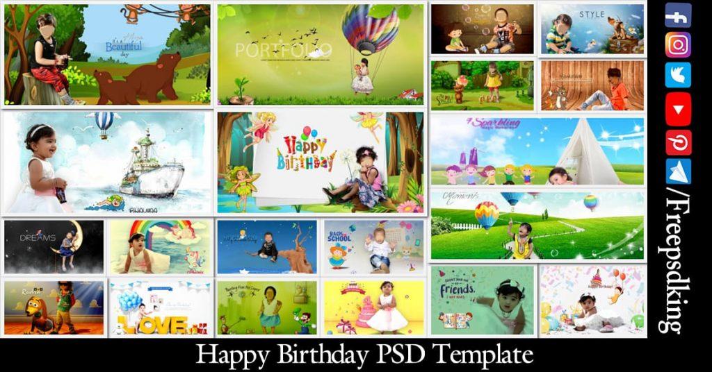 Happy Birthday PSD Template