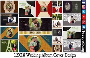 12X18 Wedding Album Cover Design