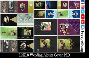 12X18 Album Cover PSD