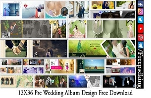 12X36 Pre Wedding Album Design Free Download