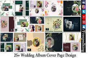 25+ Wedding Album Cover Page Design