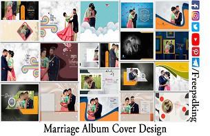 Marriage Album Cover Design