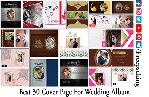 Best 30 Cover Page For Wedding Album