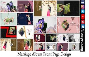 Marriage Album Front Page Design