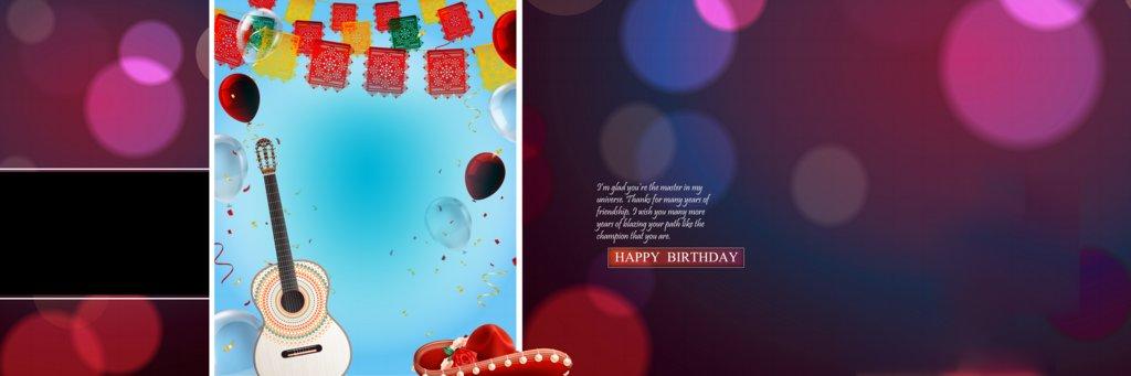 Birthday Album Design PSD Free Download 12X36 2020
