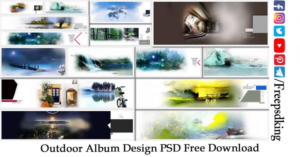 Outdoor Album Design PSD