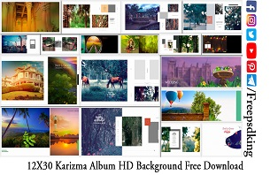 12X30 Karizma Album PSD Backgrounds in HD Free Download