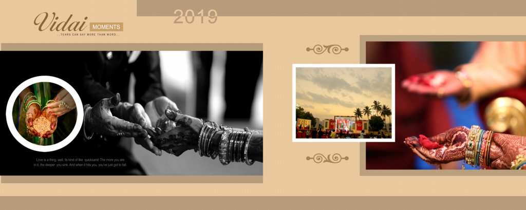 12X30 Wedding Album Design PSD