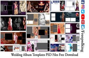 Wedding Album Templates PSD Files Free Download