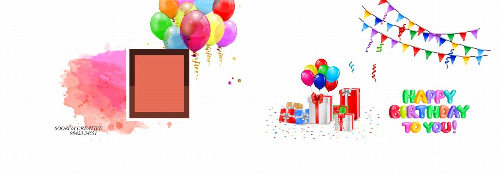 14X40 Birthday Album Wrapper Design PSD