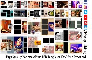 High-Quality Karizma Album PSD Templates 12x30 Free Download