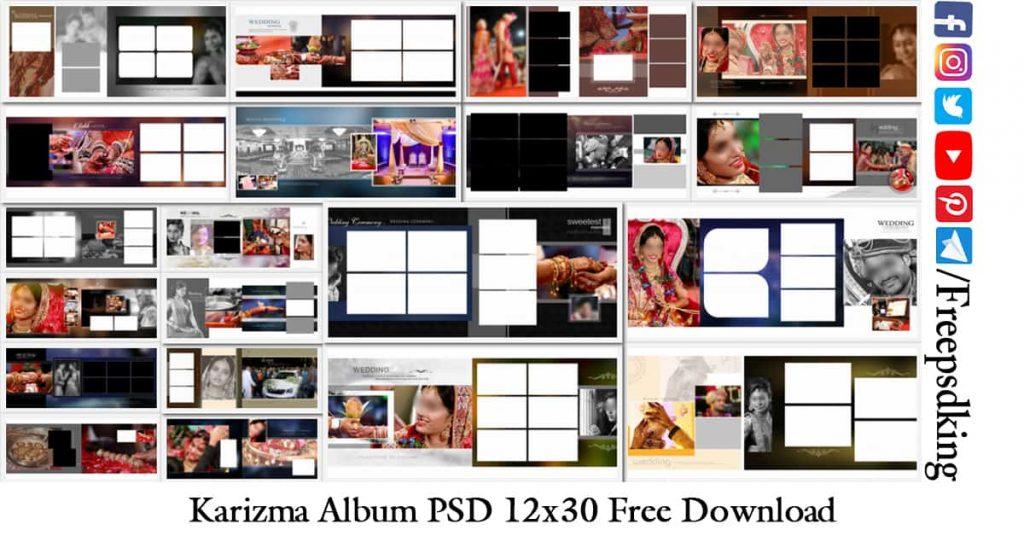 Karizma Album PSD 12x30 Free Download