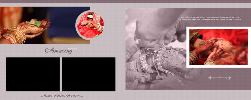 Wedding Album Design PSD Free Download 12x30 HD