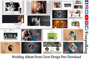 Wedding Album Front Cover Design