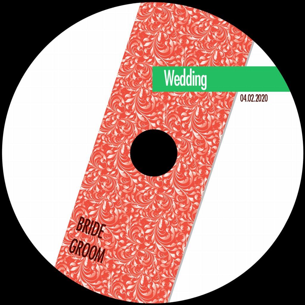 Wedding DVD Sticker Templates