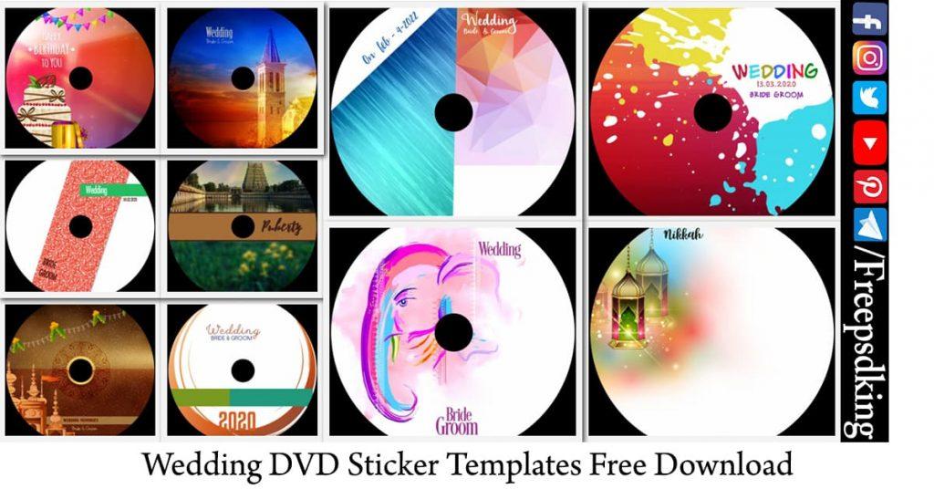 Wedding DVD Sticker Templates Free Download