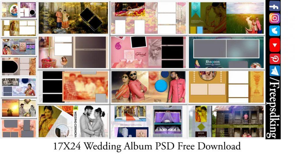 17X24 Wedding Album PSD Free Download