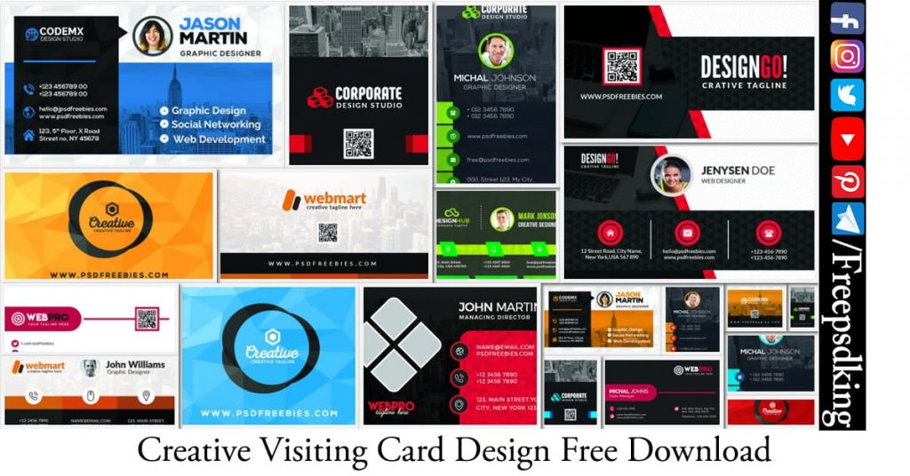 Creative Visiting Card Design 25 +  Free Download