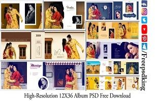 High-Resolution 12X36 Album PSD