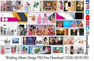 Wedding Album Design PSD Free Download 12X36 (2019) HD