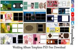 Wedding Album Templates PSD Free Download